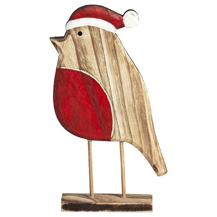 Wooden Robin Christmas Decoration | Lakeland | Wooden ...