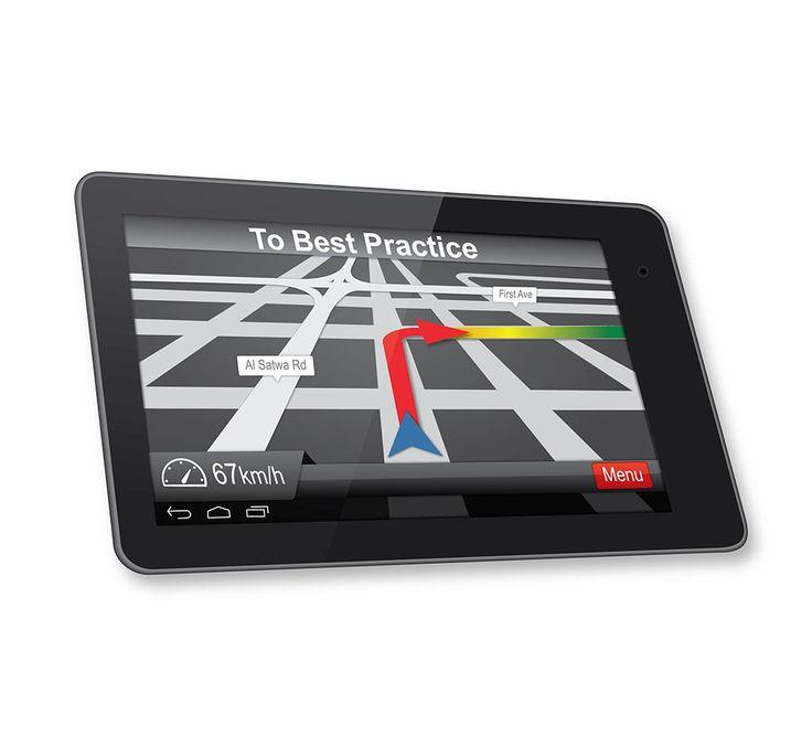 Illustration of GPS screen (vector)