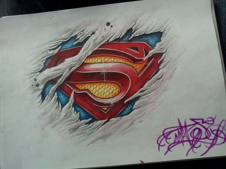 incredible superman tattoo idea