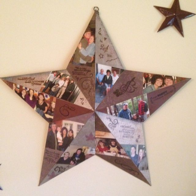 personalized rustic star