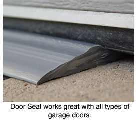 Park Smart Tsunami Seal™ Garage Door Seal: Seal out the elements with this permanent garage door seal from Park Smart! garage door seal strip, rubber