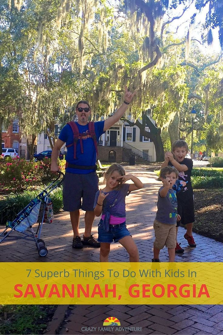 There are so many cool things to do in Savannah, Georgia with kids!  via @Crazy Family Adventure