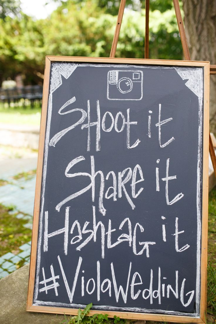 Instagram Wedding | create a hash tag for your wedding! Brilliant idea. Really for any big party or event.