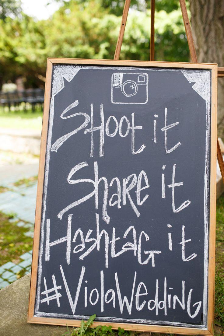 Instagram Wedding | create a hash tag for your wedding! Brilliant idea.