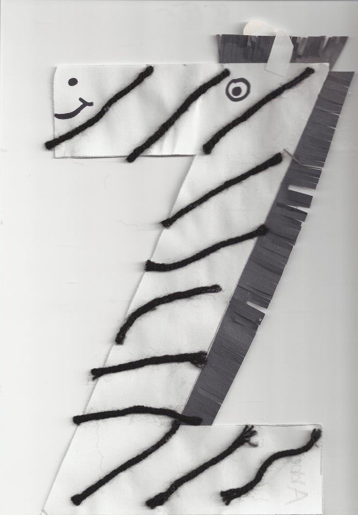z is for zebra, alphabet craft