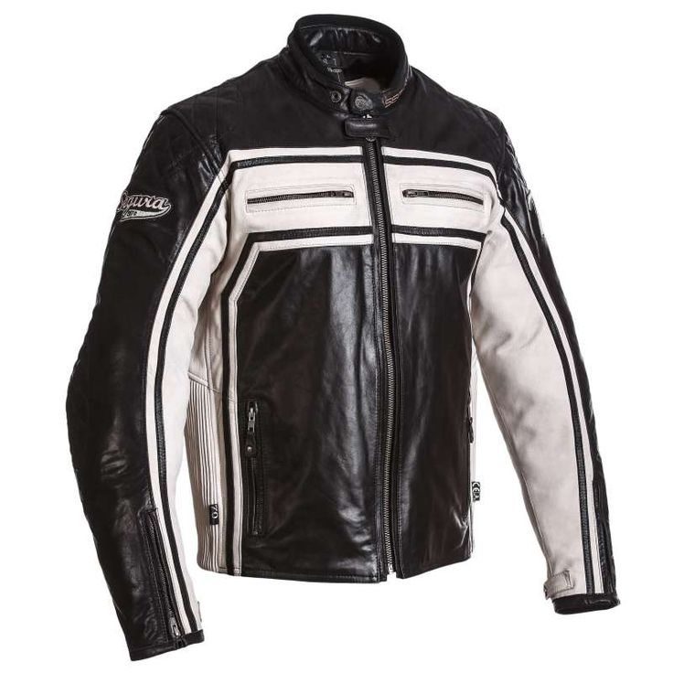 Veste moto cuir homme noir