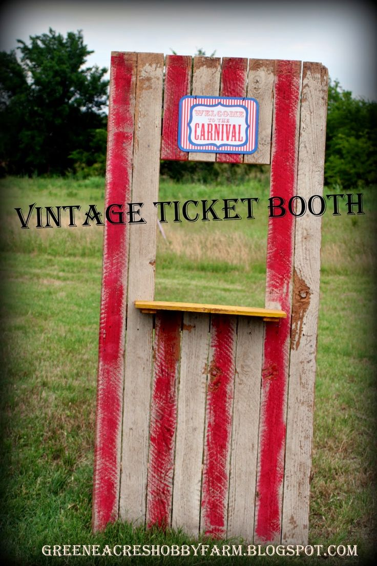 How to Make: Vintage Ticket Booth Stand for a Carnival Birthday Party