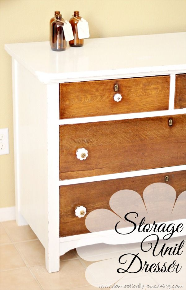 Awesome idea for a storage piece for art supplies for the kid's art table!  I have just the old piece in my bedroom to recycle!