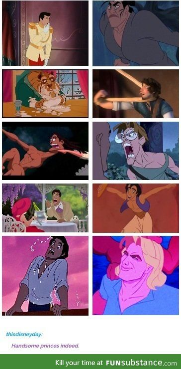 Disney Princes lol this is the best ;)