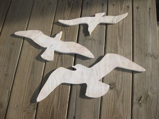 make them doves and they'd be gorgeous/creative home/garden décor!
