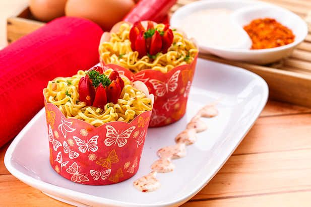 Muffin Mie Panggang Resep Dari Dapur Kobe Resep Panggang Makanan Makanan Pedas