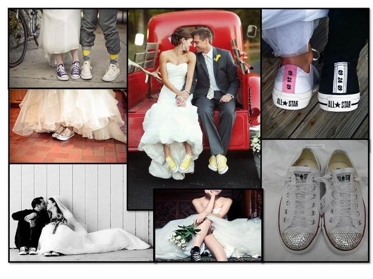 Custom Bride and Groom Converse Sneakers
