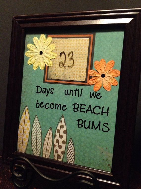 Dry Erase Beach Vacation Countdown, Beach Bum Countdown on Etsy, $25.00