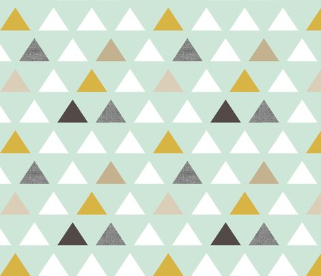 Bathroom - mod mint triangles fabric by mrshervi on Spoonflower - custom fabric