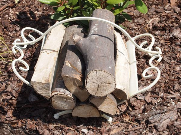 Funkcjonalny i elegancki kosz na drewno do kominka / Basket On Wood Fireplace Shabby Chic