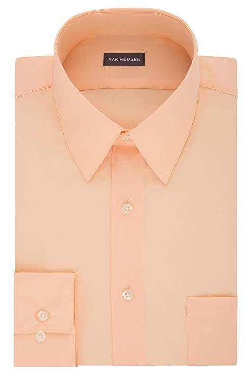 a768773ebcde22 Van Heusen Men's Poplin Regular Fit Solid Point Collar Dress Shirt at Amazon  Men's Clothing store: