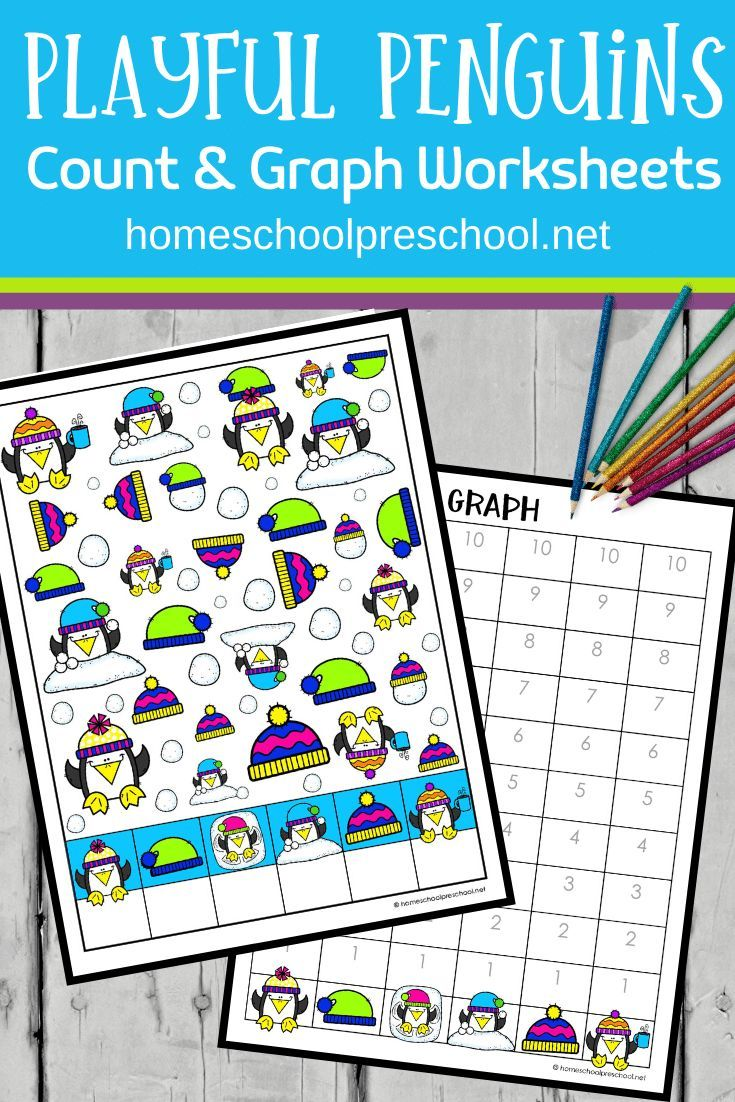 Penguin Count And Graph Worksheets Graphing Activities Preschool Penguin Activities Graphing [ 1102 x 735 Pixel ]