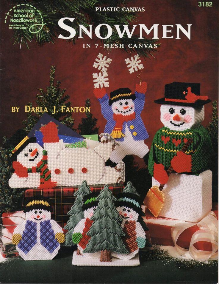 Plastic Canvas Snowmen In 7-Mesh Canvas Book - Darla J. Fanton