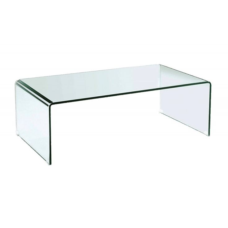 Glass coffee table Glasser Clear 12mm tempered 110x55x35  ΕΜ720