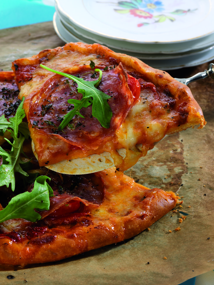 Your guests will love #pizza from your kitchen, and these individual-size pies are loaded with fresh ingredients layered on a rich, homemade sauce.