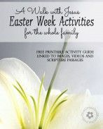 """Create meaningful Easter activities for children of all ages with my Free Printable """"Walk With Jesus Easter Activity Guide {OneCreativeMommy..."""