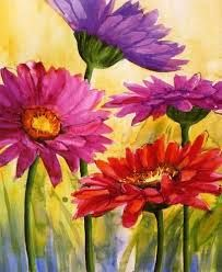 flower paintings for beginners - Google Search