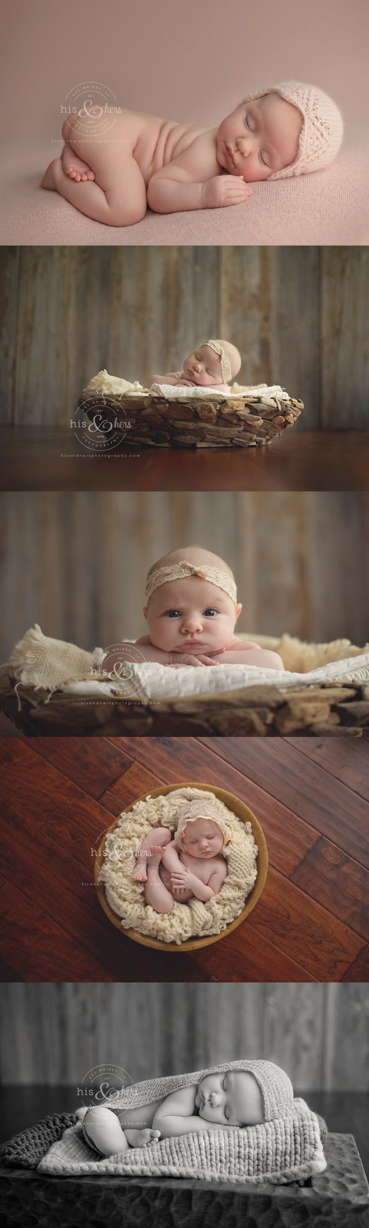 1 month old baby | Des Moines, Iowa baby photographer, Darcy Milder | His & Hers Photography