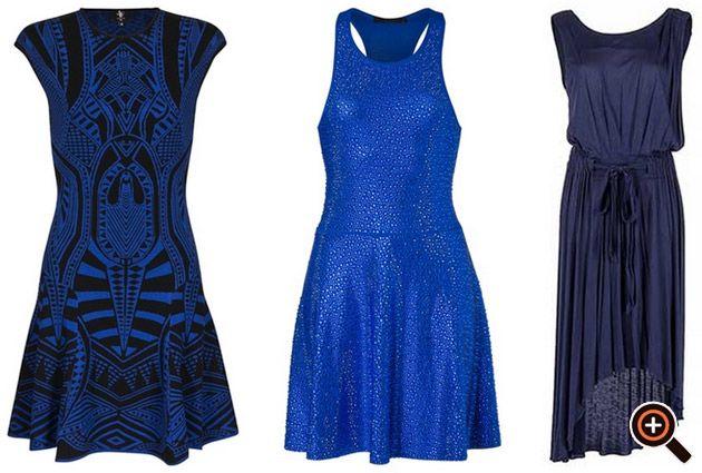 Kleid blau - Etuikleid, Cocktailkleid, Paillettenkleid, Jerseykleid - Designer Fashion