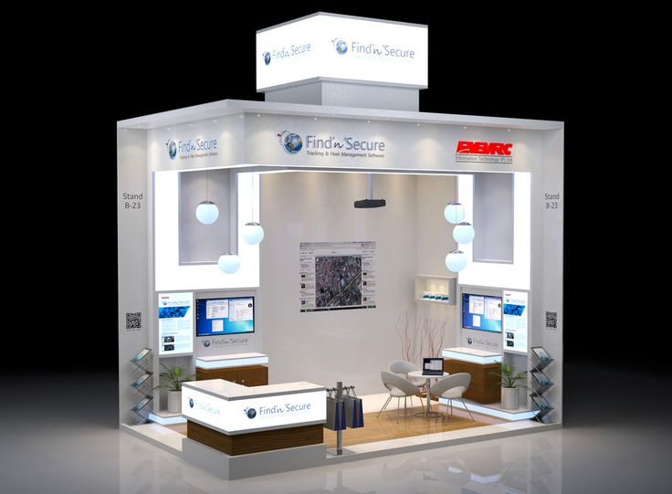 Exhibition Stand Technology : Custom exhibition stand for embarc information technology