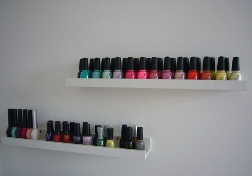Creatief nagellak opbergen: houder voor schilderijen en foto's