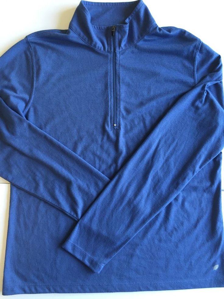 LL Bean Women s Small Blue Pullover Top 1/4 Zip Activewear Long Sleeve | eBay