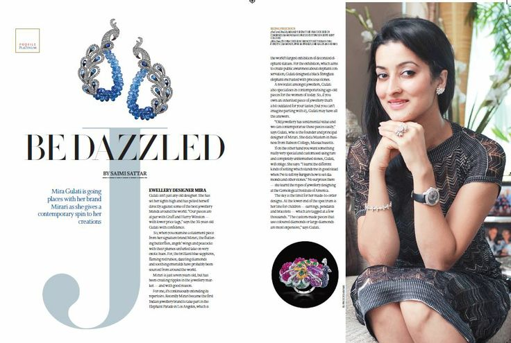 "A sneak peak into the design philosophy of Miraris principal designer and founder , Mira Gulati . Profiled in ""The Telegraph Platinum"""
