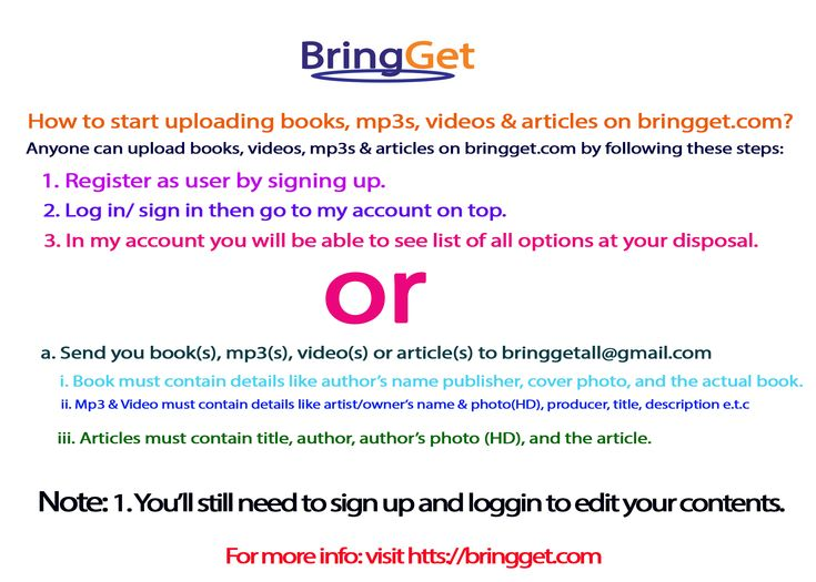 Let People Know You Start Uploading Articles Videos Mp3 Books About Me Blog Books Informative