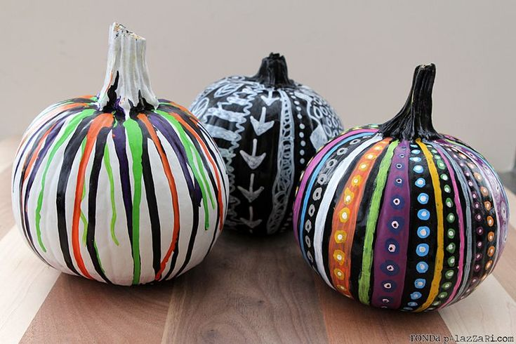 From The Archives 3 Painted Pumpkins Help Me Ronda