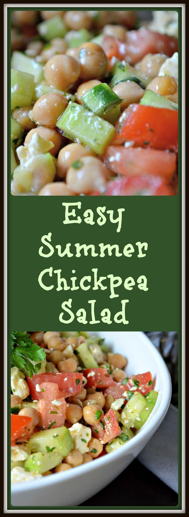 Easy Summer Chickpea Salad #SundaySupper
