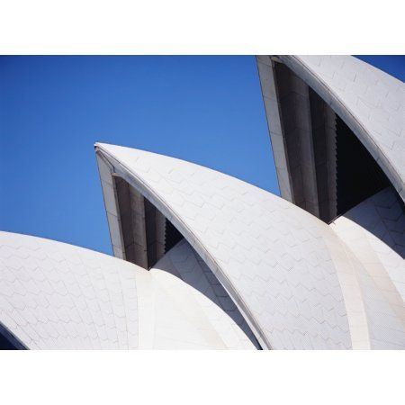 Detail Of The Roof Of The Sydney Opera House Sydney Close Up Canvas Art - Ian Cumming Design Pics (16 x 12)