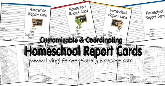 FREE Printable homeschool report cards. These home school report cards are a great way to document homeschool students progress. There are various choices for kindergarten through 6th graders.