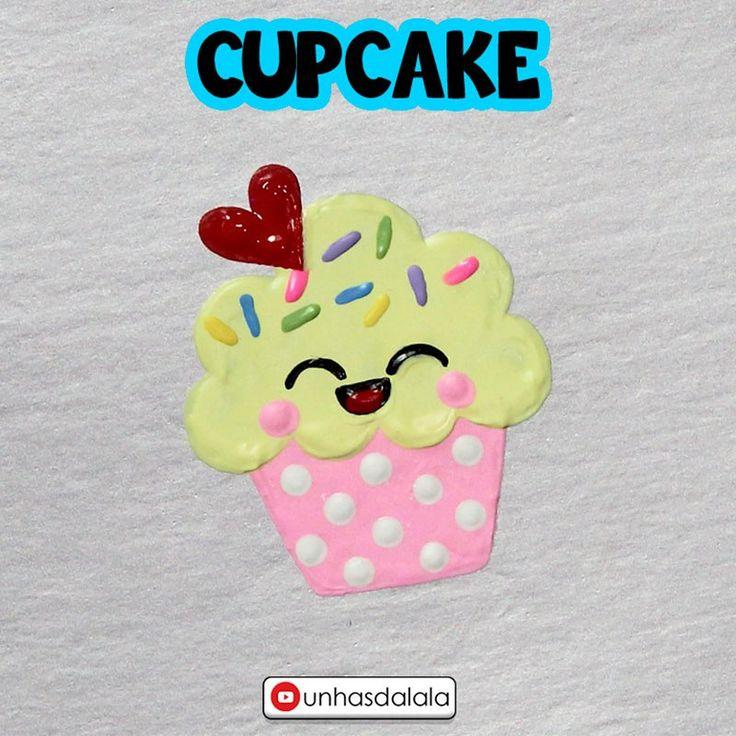 Todo cupcake é fofinho seja le para comer ou em desenho, hoje vou ensinar a fazer um mega lindo com rostinho no estilo kawaii.