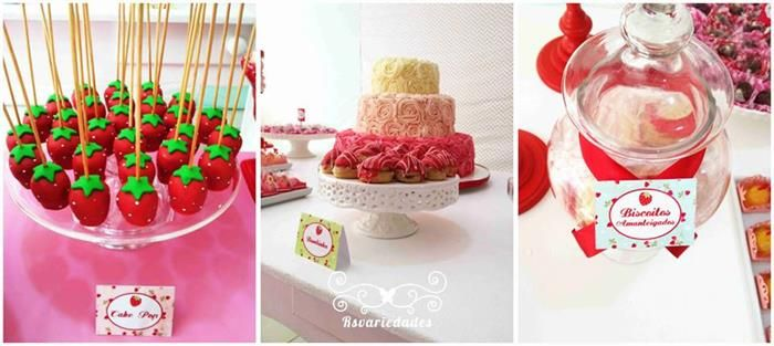 Strawberry Themed 1st Birthday Party with Such Cute Ideas via Kara's Party Ideas | KarasPartyIdeas.com #StrawberryParty #PartyIdeas #Supplie...