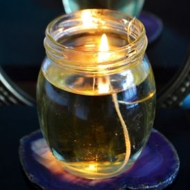 how to make a candle without a wick