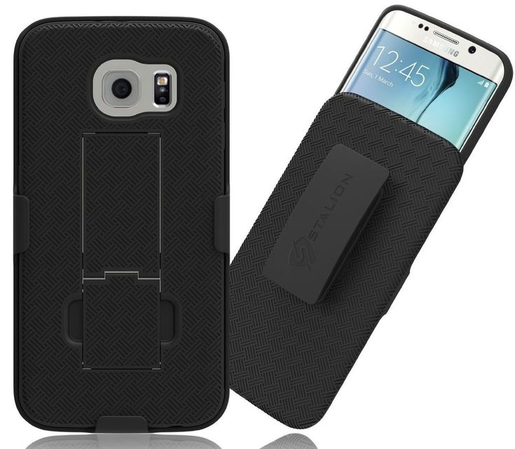 Galaxy Note 3 Case Secure Shell Belt Clip Holster Combo with Kickstand Black #Stalion