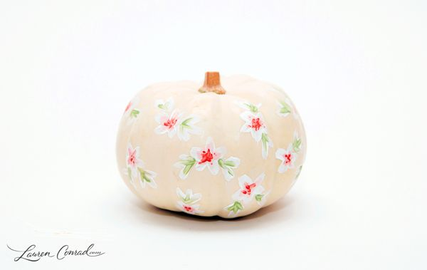 Tuesday ten creative pumpkin decorating ideas painted Flower painted pumpkins
