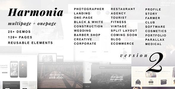 Harmonia - Creative Multi-Purpose WordPress Theme