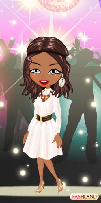 Shine the lights on your Beauty!  #fashland #fashion #passionforfashion #greyeyes #brunette #bling #shiny #disco #80s #whitedress #dance #party #sparkle #sparkly #sparkling #beauty #beautiful #dressup #gamegos #onlinegames #gaming
