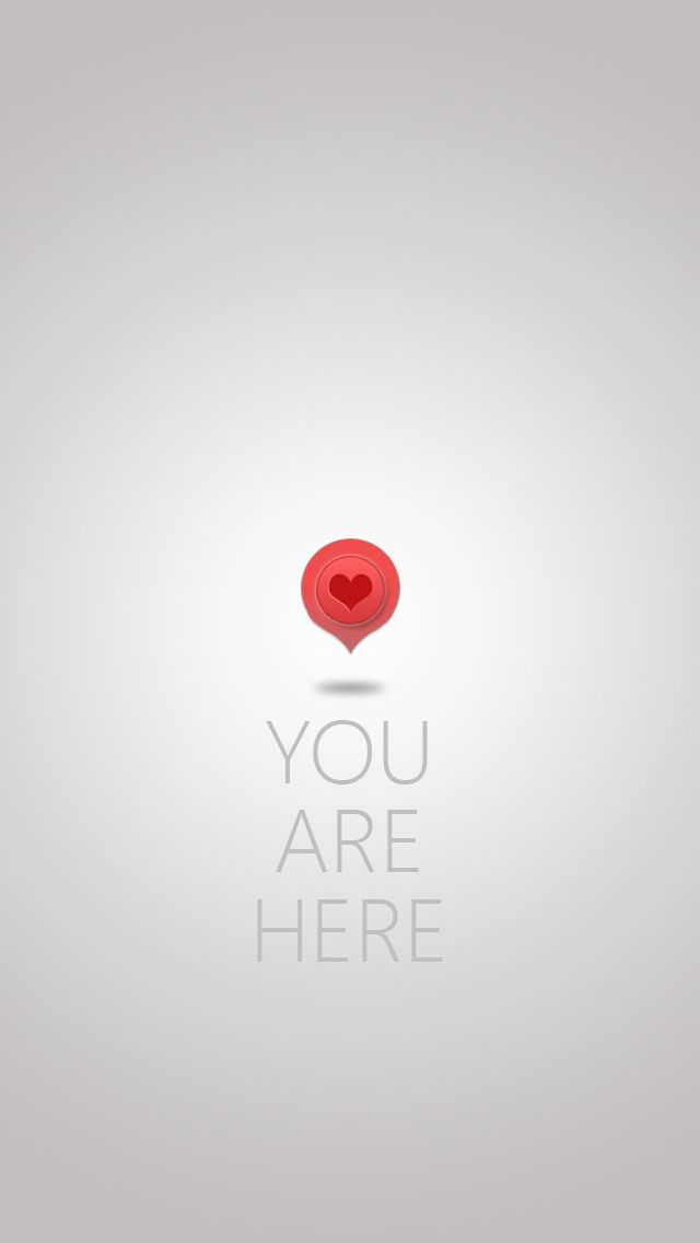 You Are Here iPhone wallpaper- @mobile9