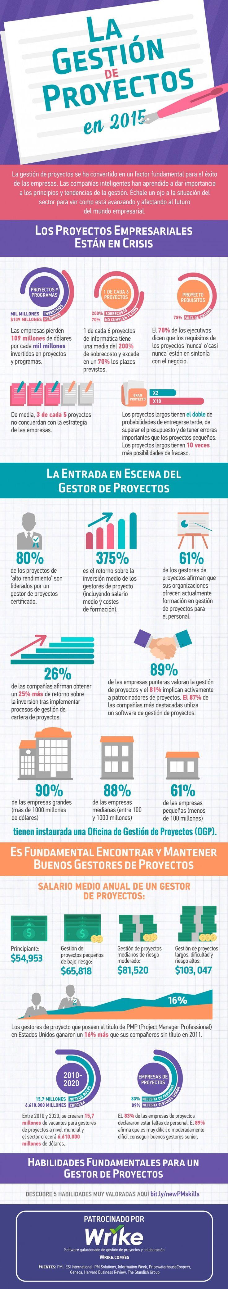 La Gestión de Proyectos  #Infografía