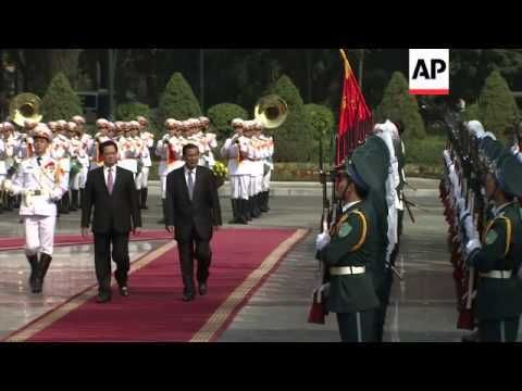 Cambodian Prime Minister Hun Sen meets Vietnamese counterpart - WATCH VIDEO HERE -> http://vietnamonlinetop.info/cambodian-prime-minister-hun-sen-meets-vietnamese-counterpart/   Cambodian Prime Minister Hun Sen and his Vietnamese counterpart Nguyen Tan Dung witnessed on Thursday the signing of ten agreements aimed at boosting trade and education cooperation as well as strengthening the fight against cross border criminal activity. Sen arrived in Hanoi on Thursday for a...