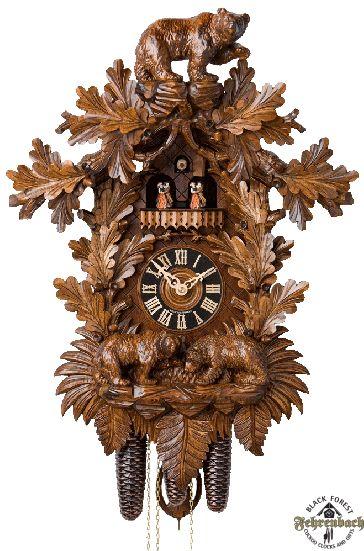 Traditional Cuckoo Clock With Bears