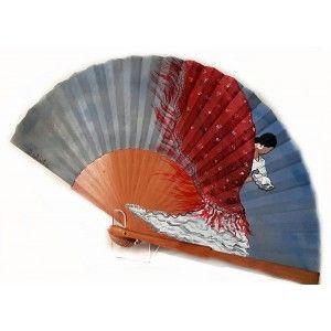 Abanico flamenca mantón de manila #diseño #flamenca #pintado a mano