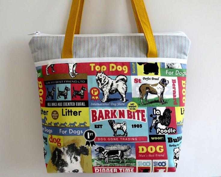 Women's Handbag, Shoulder Bag, Vintage Dog Posters, Crazy Dog Lady, Puppy Bags, Gift for Dog Lover, Original Dog Gifts, Dog Bags, Dog Totes by RachelMadeBoutique on Etsy https://www.etsy.com/au/listing/590931649/womens-handbag-shoulder-bag-vintage-dog